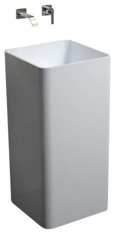 Modern Bathroom Freestanding Sinks by Badeloft Resin Freestanding Sink White Matte