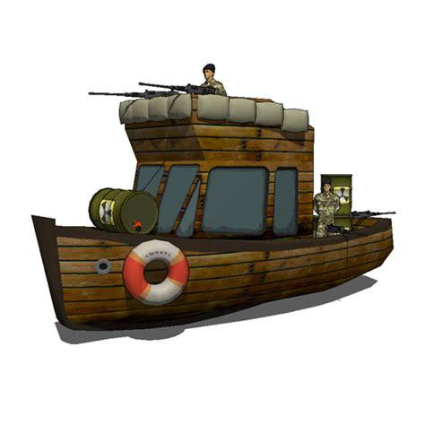 Model Boat Guns by Army Boat 3d Model Formfonts 3d Models Textures