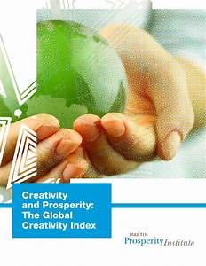 Creativity global index report martin inst. sep 2011
