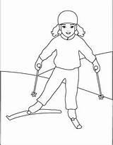 Coloring Skiing Ski Colouring Ausmalbilder Jumping Skifahren Alpine Skier Winter Olympic Sheets Template Person Ausmalbild Printable Cross Country Skiers Talvi sketch template