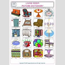 Living Room Picture Dictionary Word To Learn Esl
