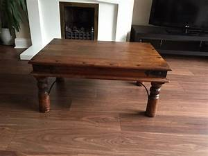 Dark mexican pine coffee table for sale in cabinteely for Dark pine coffee table