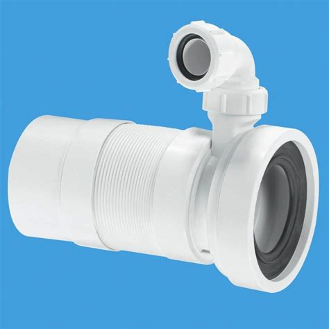 mcalpine long flexible pan connector spigot  basin