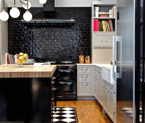 step    box   bold black kitchen designs