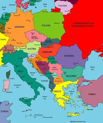 maps  europe region country maps   eastern