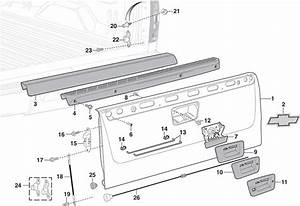 2002 Chevy Silverado Tailgate Parts Diagram