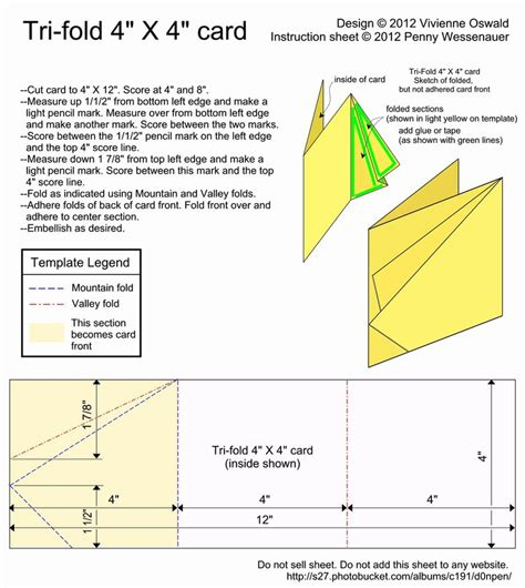 Maybe you would like to learn more about one of these? Tri Fold Card Template Free New Card Templates Tri Fold 4x4 Card Image by D0npen | Card making ...