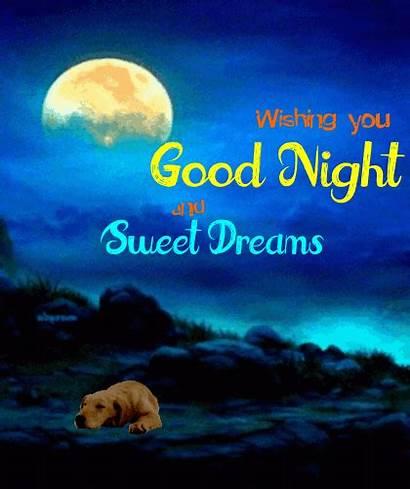 Wishing Night Goodnight Cards Greetings Card Greeting