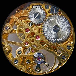 New Old Skeleton Watchworks  Seen Through Its Crystal Back