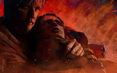 Anakin Skywalker Wars Resolution Obi Wan Mustafar