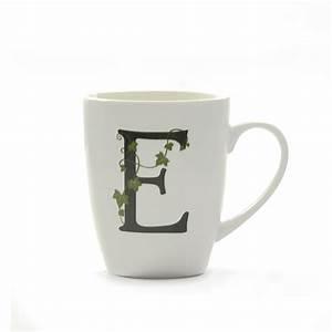 formahouse la porcellana bianca mug letter e With letter e mug