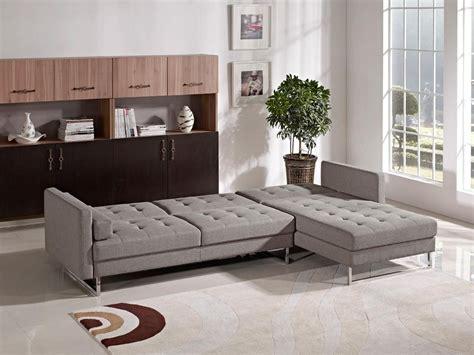 divani futon divani casa smith sofa bed sectional in brown fabric