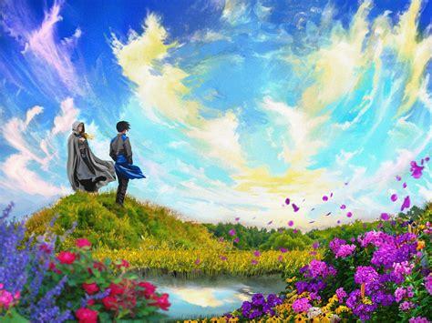 sam  fantasy illustration video game background