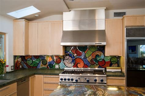 colorful kitchen backsplashes colorful kitchens glass mosaic backsplash kitchen los