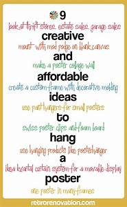 9 creative and affordable ideas to hang a poster - Retro