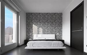 Papier Peint Chambre À Coucher : decoration de chambre a coucher avec papier peint visuel 3 ~ Nature-et-papiers.com Idées de Décoration
