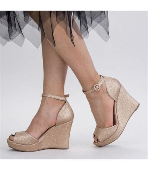 Sandale Dama cu Platforma XDT271A Champagne (M20) Reina