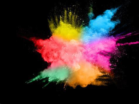 wallpaper colorful smoke splash abstract black