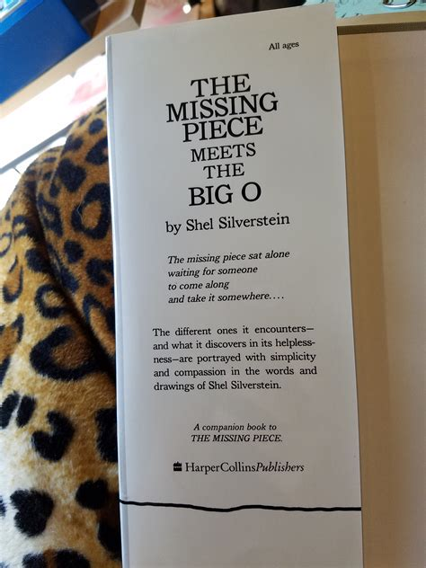 the missing piece meets the big o bookspotting the missing piece meets the big o by shel