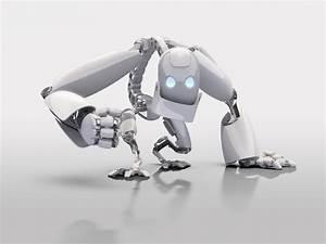3D Robot Desktop Background HD Wallpaper 3D Abstract