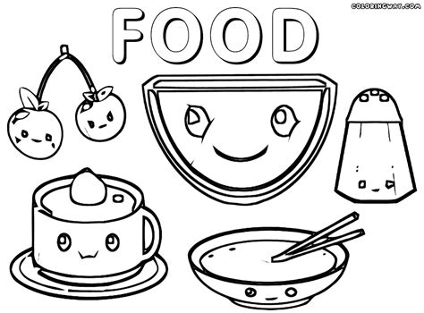 white food coloring kawaii food pages coloring pages
