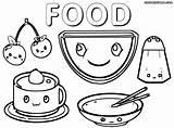 Food Cute Coloring Pages Print Cutefood Colorings sketch template