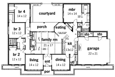 45 Ft Bathroom by Prairie Style House Plan 4 Beds 2 Baths 2240 Sq Ft Plan