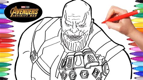 avengers infinity war thanos drawing and coloring thanos