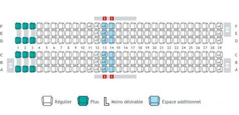 avion air transat siege plans de cabine sélection de siège info voyage westjet
