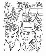 Coloring Parents Gran Present Grandparents Buying Pages Netart Granparents Getcoloringpages sketch template