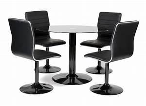 Table De Cuisine Et Chaises : table 4 chaises alister noir ~ Teatrodelosmanantiales.com Idées de Décoration