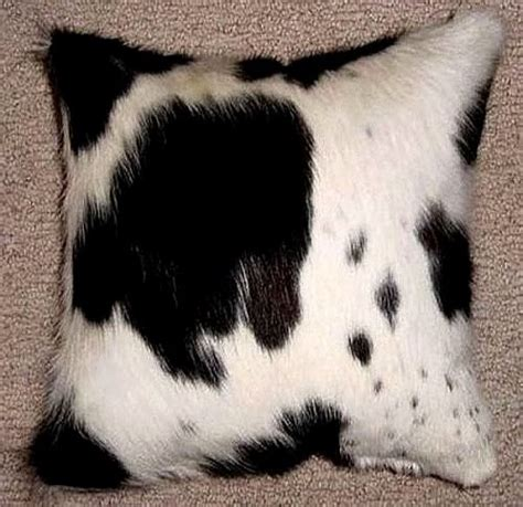 black and white cowhide black and white cloud cowhide decorative throw pillow