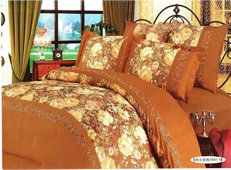 fall bedding sets china bedding set autumn rosy 8690 5 china silk