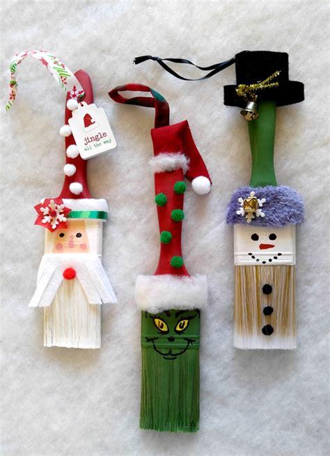 paintbrush christmas ornaments