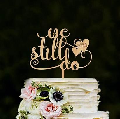 Cake Still Topper Anniversary Personalized Names