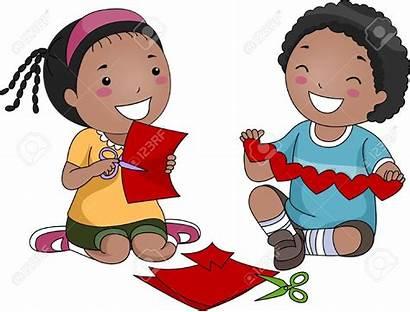 Clipart Clip Making Children Creative Save