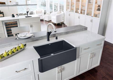 apron front farmhouse kitchen sinks 3rings blanco s ikon apron front sink 7501