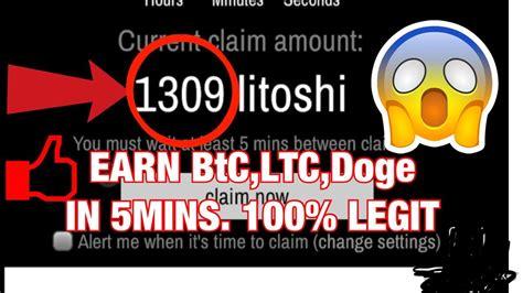 EARN FREE BITCOIN, Litecoin, Dogecoin In just 5mins - YouTube