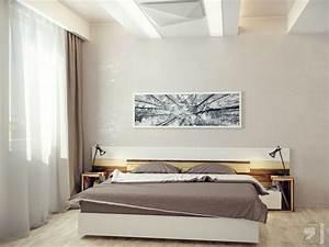 Neutral modern bedroom interior design ideas for Design for small bedroom modern