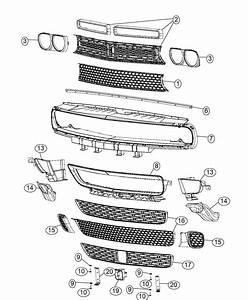 2016 Dodge Challenger Grille  Radiator  Module  Fascias