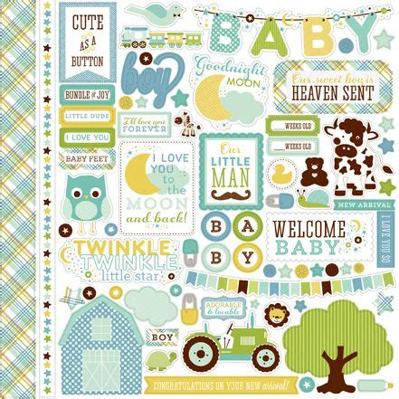 echo park baby boy stickers stickers collection echo
