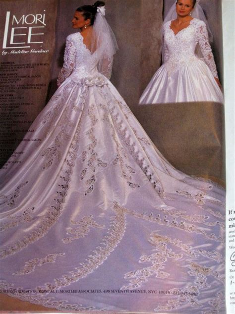 wedding gown  mori leehas   ft train