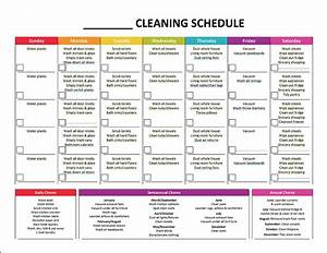 complete housekeeping printable set monthly cleaning With janitorial schedule template