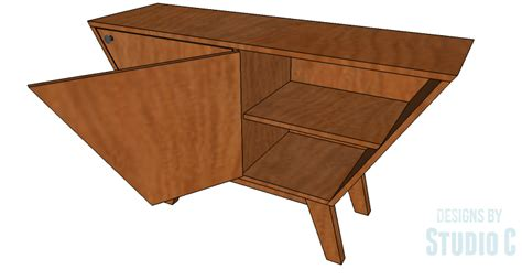 mid century cabinet diy an easy to build mid century style cabinet designs by
