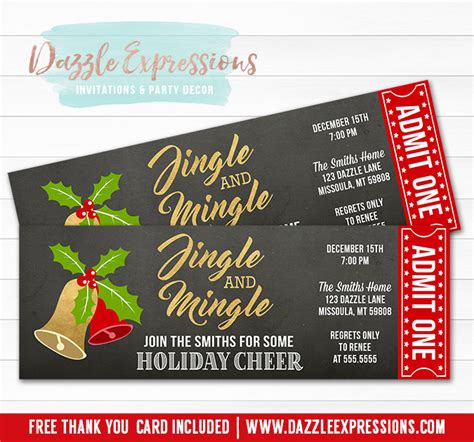 christmas party ticket template  festival collections