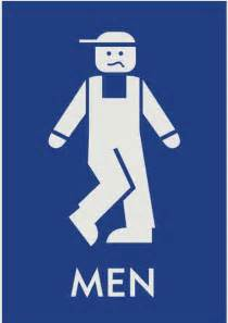 Male Restrooms Signs Men Bathrooms