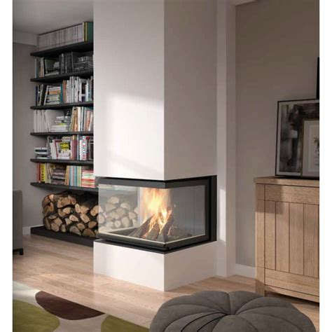 insert cheminée bois cheminee insert 3 vitres