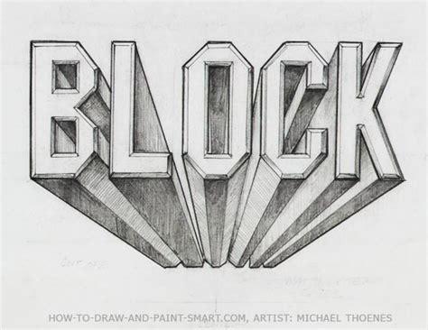3d block letters draw 3d block letters designer s kick 20095 | draw 3d block letters 09