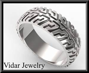 unique tire tread men39s wedding band in sterling silver With tire tread wedding ring