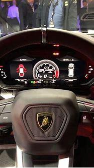 Interior of the Lamborghini Urus painted in Bianco ...